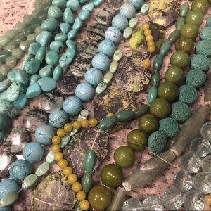 Genuine gemstone beads (lot, collection, mix, set)